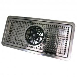 Каплесборник метал, 800х220 в комплекте с омывателем стаканов, хром,  Италия