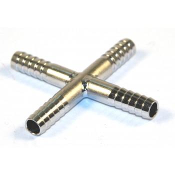 Переходник «+» (нерж. сталь) 7х7х7х7 мм.