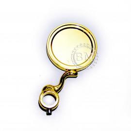 Медальон круглый на S-обр. ножке с кольцом 5/8, золото