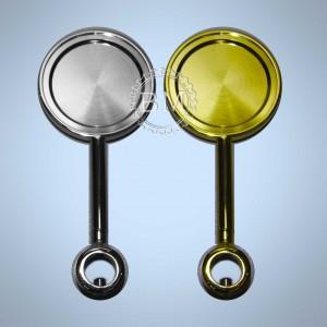 Медальон  круглый на прямой длинной ножке с кольцом 5/8, хром