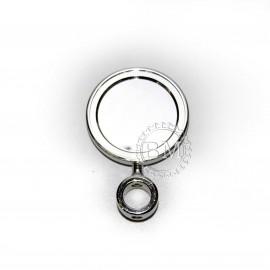 Медальон  круглый на прямой ножке с кольцом 5/8, хром