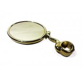 Медальон овальный на S-обр. ножке с кольцом 5/8, золото