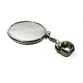 Медальон овальный на S-обр. ножке с кольцом 5/8, хром