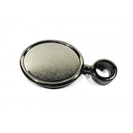 Медальон овальный на прямой ножке с кольцом 5/8, хром