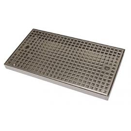 Каплесборник металлический, 400х220х30, нерж. сталь