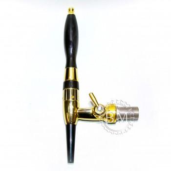 Кран метал. диафрагменный с компенсатором и Рассекателем, резьба 5/8х35х10,золото, Celli